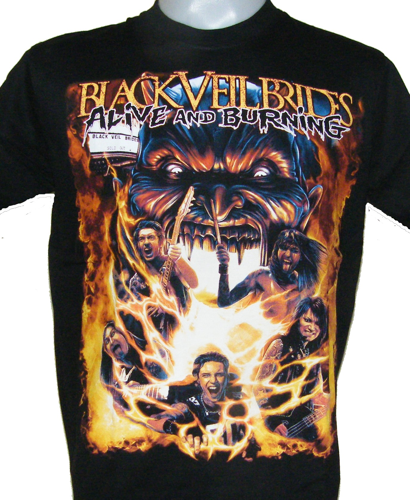 Black Veil Brides t-shirt Alive and Burning size M – RoxxBKK