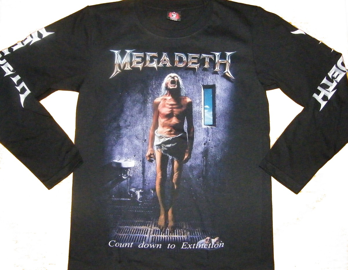6d03b8d34 Megadeth long-sleeved t-shirt Countdown to Extinction size S