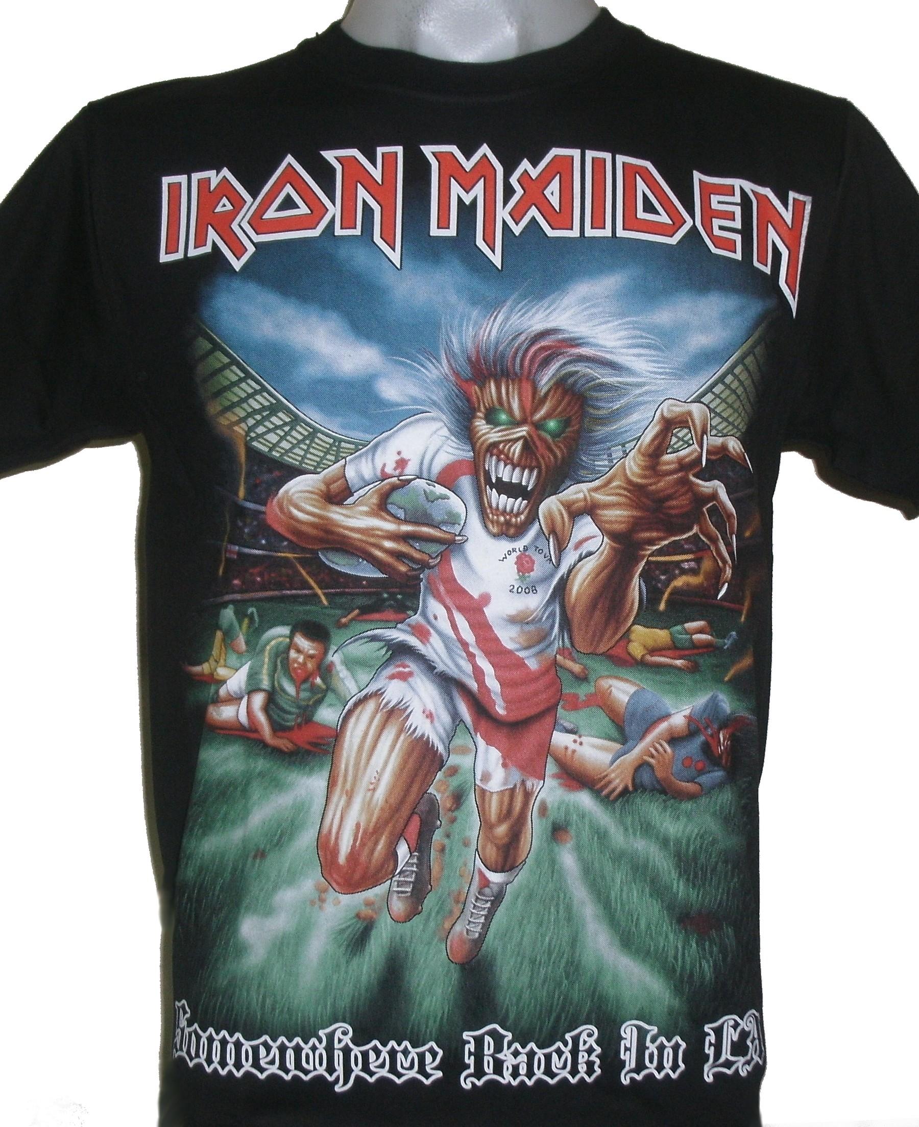 f9f9787b Iron Maiden t-shirt Somewhere Back in LA size L – RoxxBKK