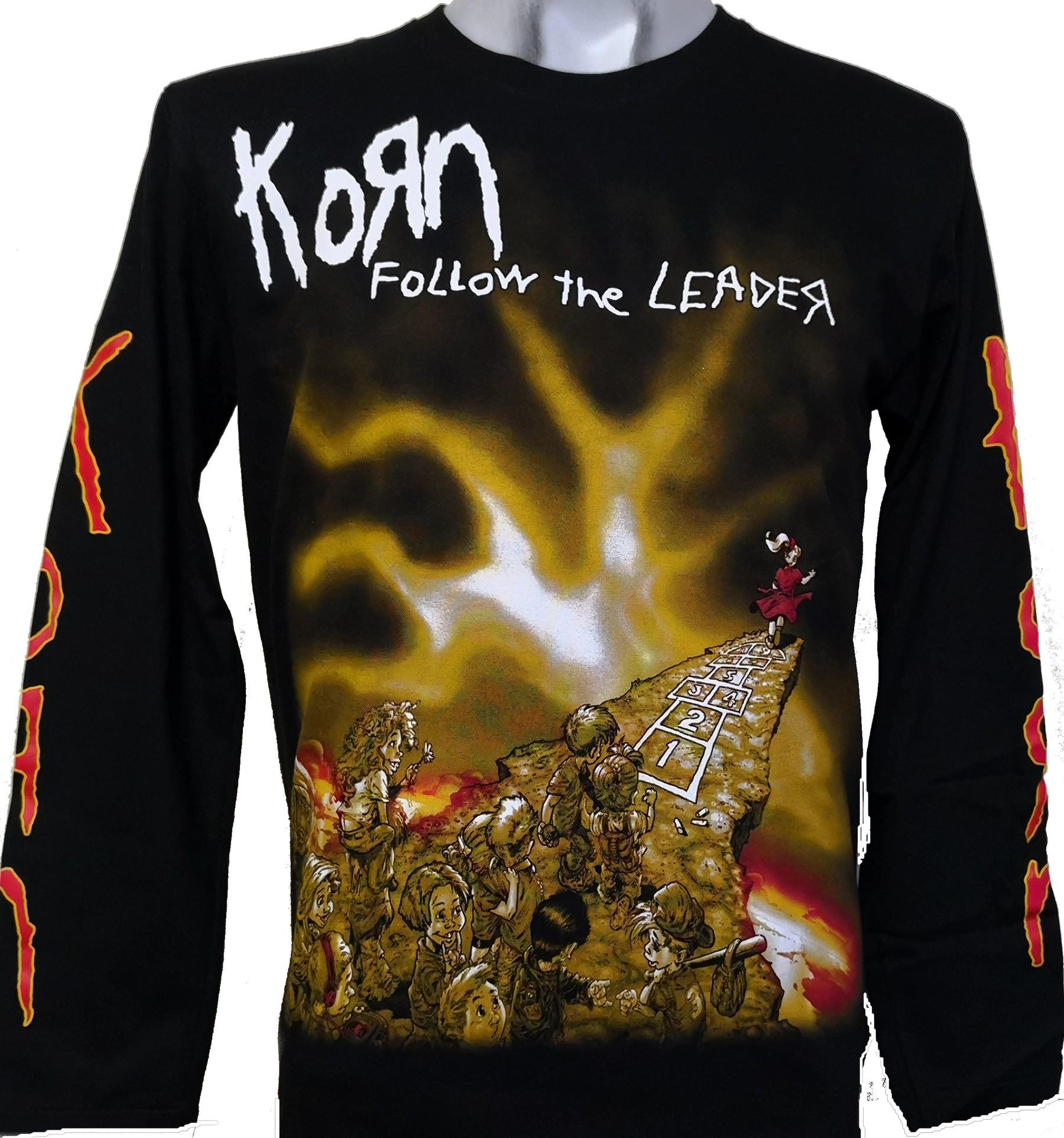 KORN t-shirt long sleeve korn blouse children kid shirt size:3-11y