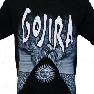 White GOJIRA T-SHIRT sizes S M L XL XXL colours Black
