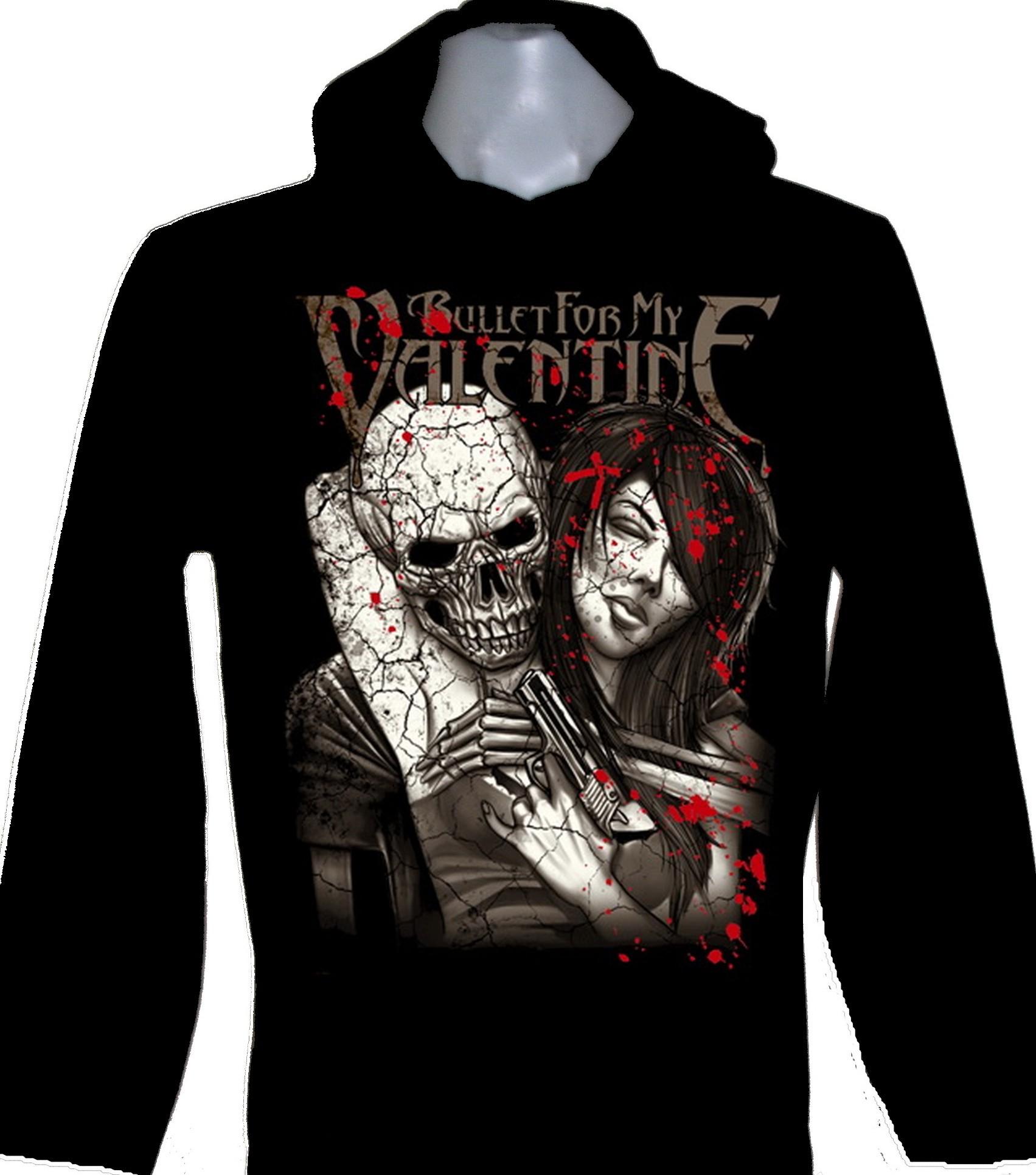 Bullet For My Valentine Long Sleeved T Shirt W Hoodie Size Xl Roxxbkk